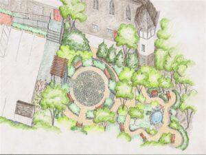 Memorial Garden for The First Congregational Church in Winchester